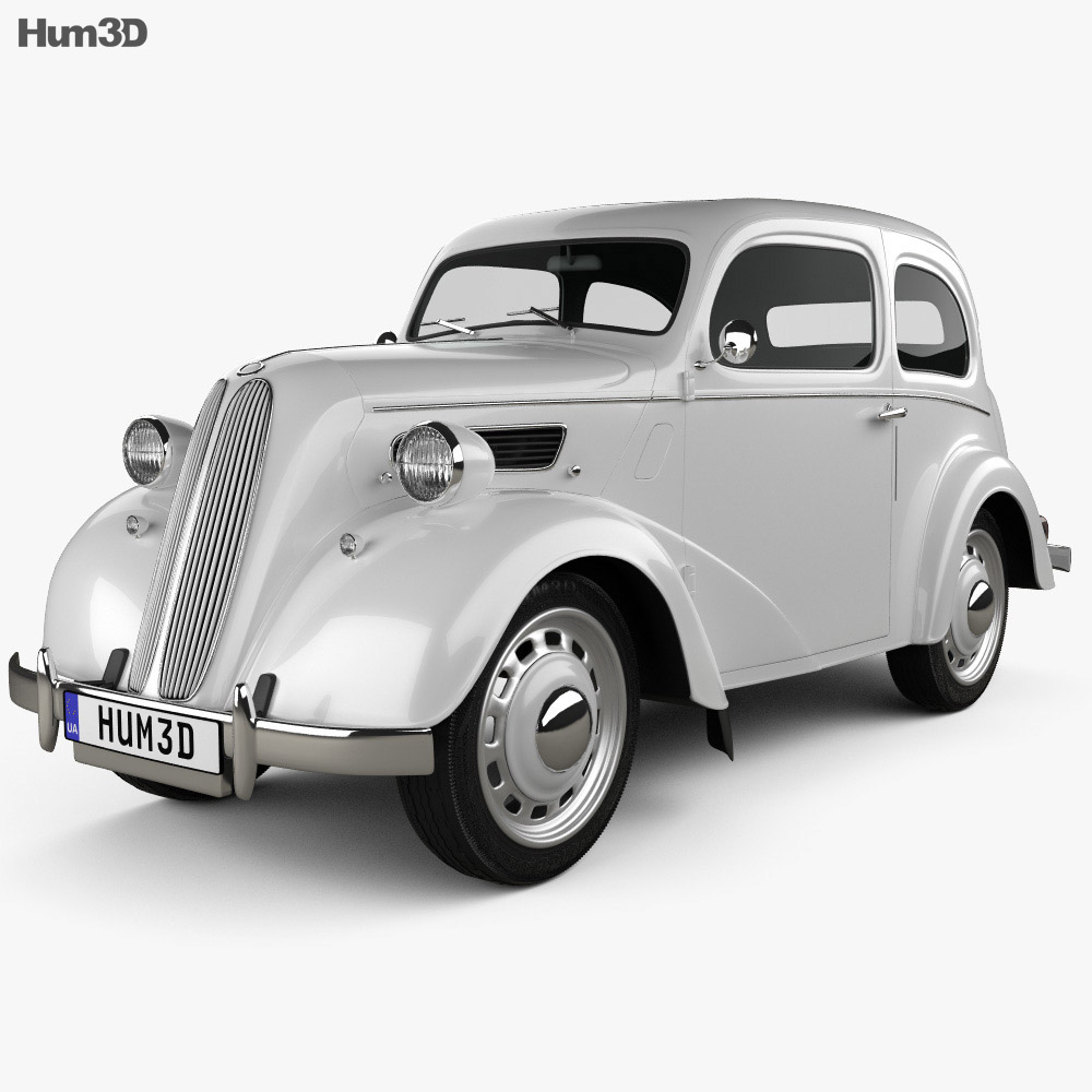 Ford Anglia E494A 2-door Saloon 1949 3d model
