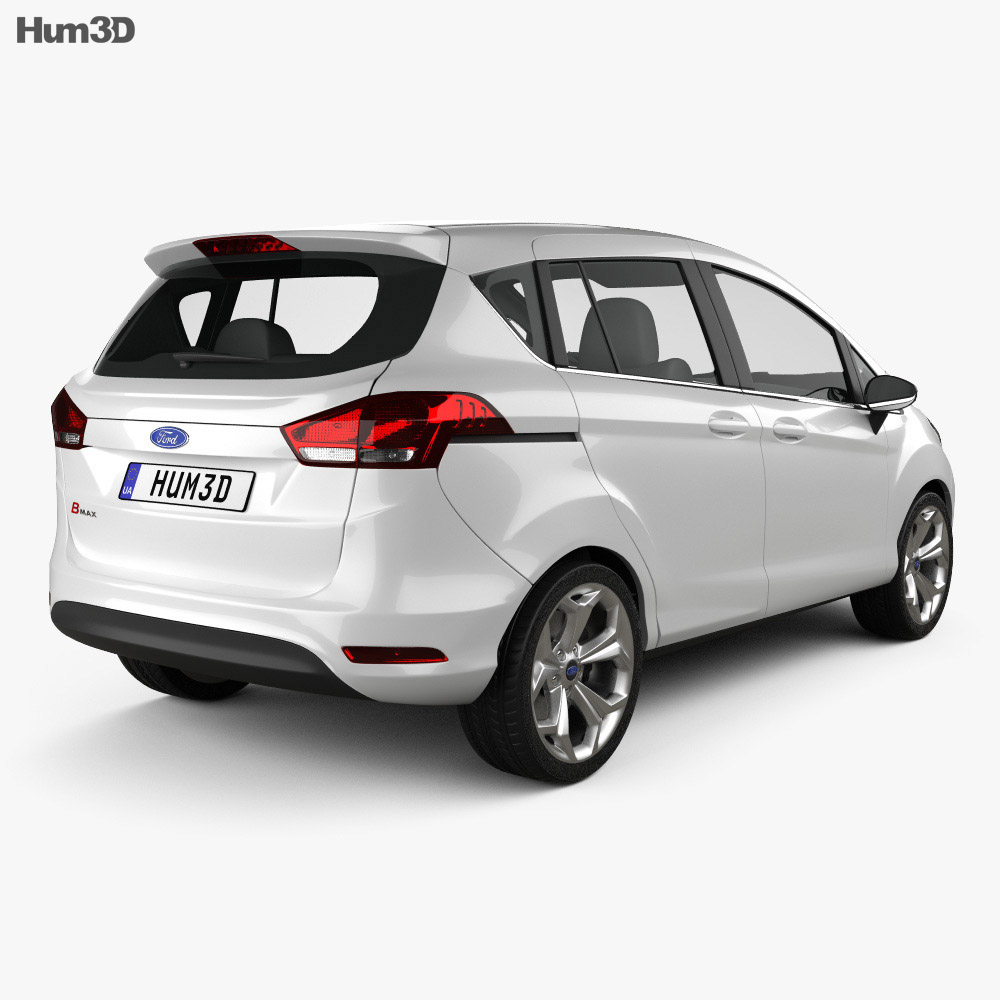 Ford B-MAX 2013 3d model back view