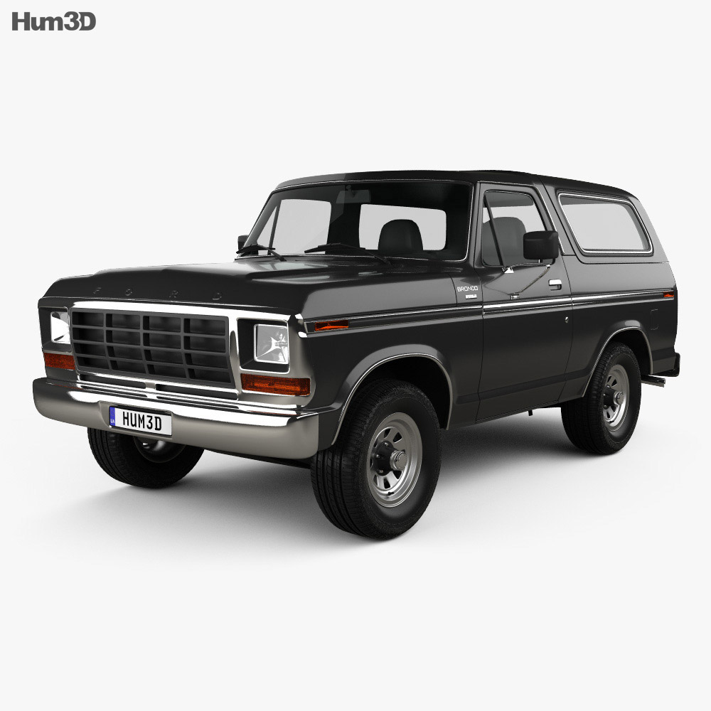 ford bronco 1978 3d model humster3d. Black Bedroom Furniture Sets. Home Design Ideas
