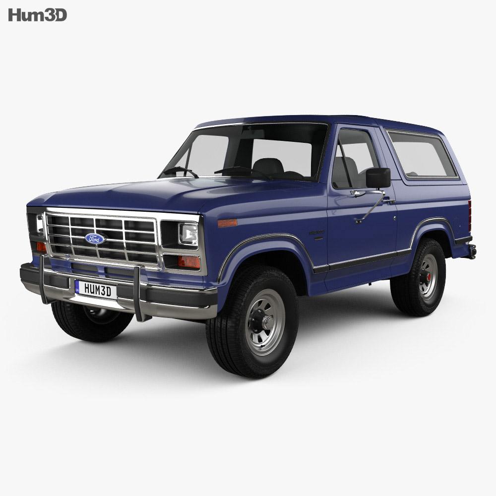 ford bronco 1982 3d model vehicles on hum3d. Black Bedroom Furniture Sets. Home Design Ideas
