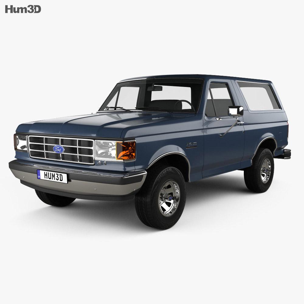Ford Bronco 1989 3d model