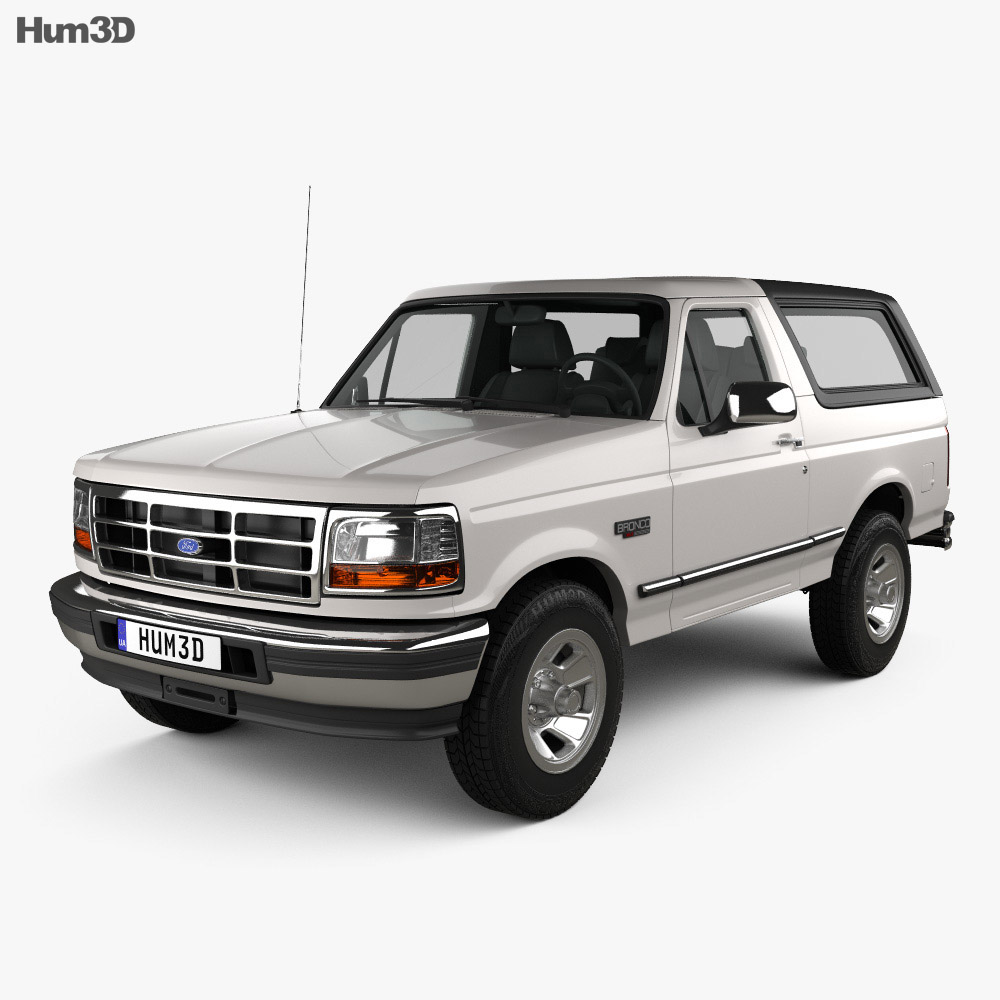 Ford Bronco 1992 3d model