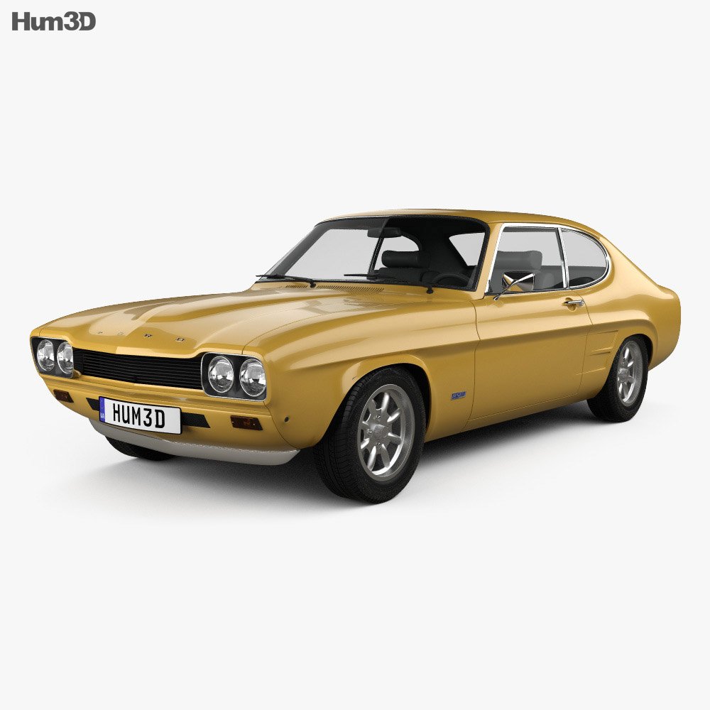 ford capri rs 2600 1970 3d model humster3d. Black Bedroom Furniture Sets. Home Design Ideas