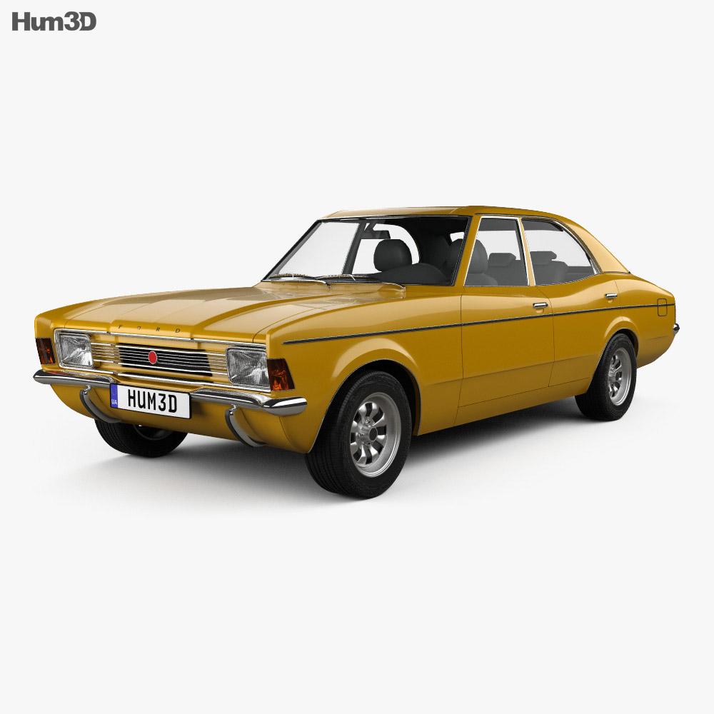 Ford Cortina TC Mark III sedan 1970 3d model