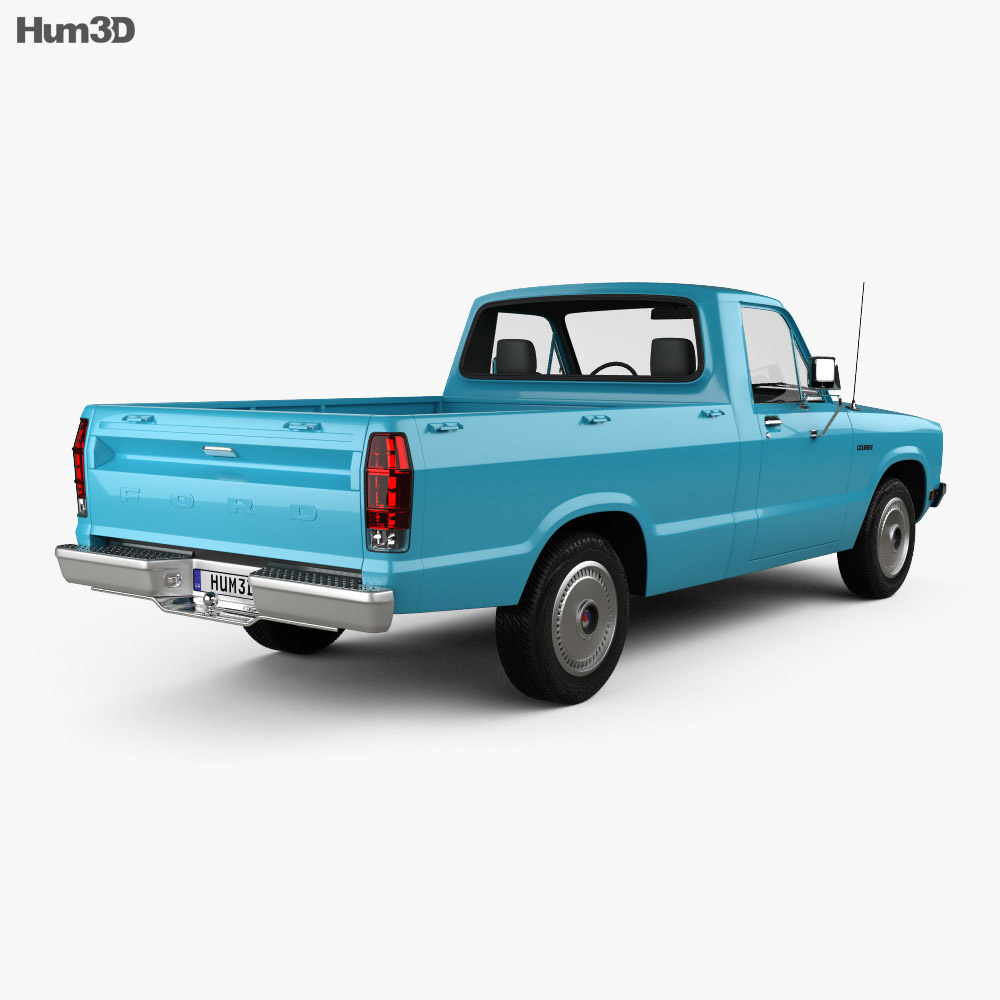 Ford Courier 1977 3d model