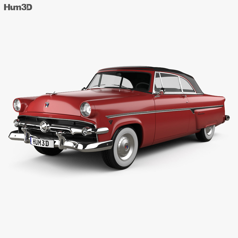 Ford Crestline Sunliner 1954 3d model