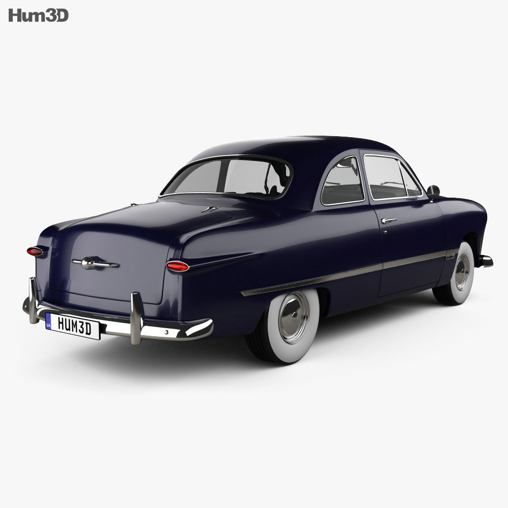 Ford Custom Club Coupe 1949 3d model