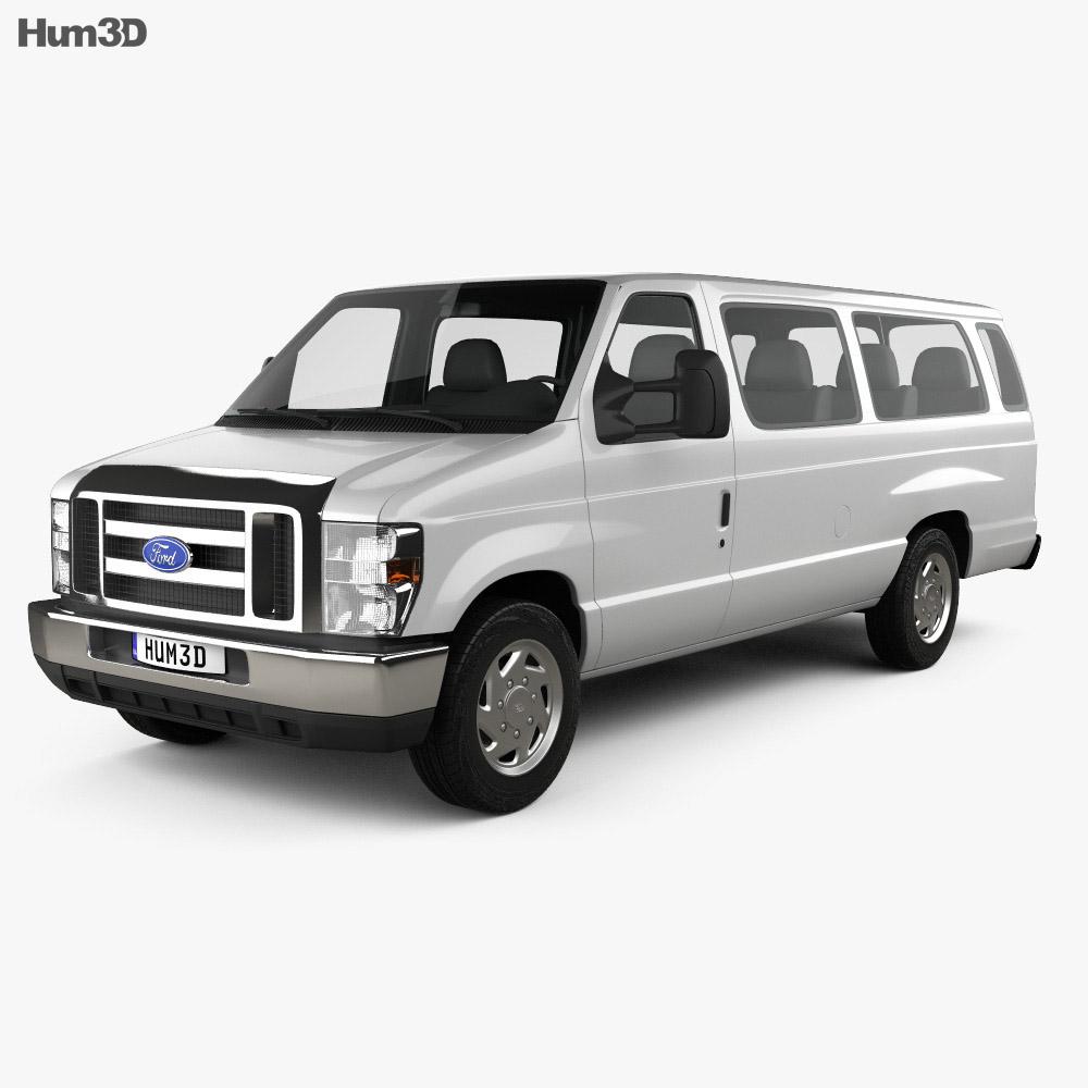 Ford E-Series Passenger Van 2011 3d model