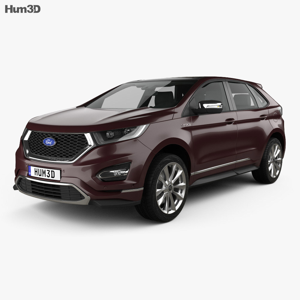 New Ford Vehicles For 2016: Ford Edge Vignale 2016 3D Model