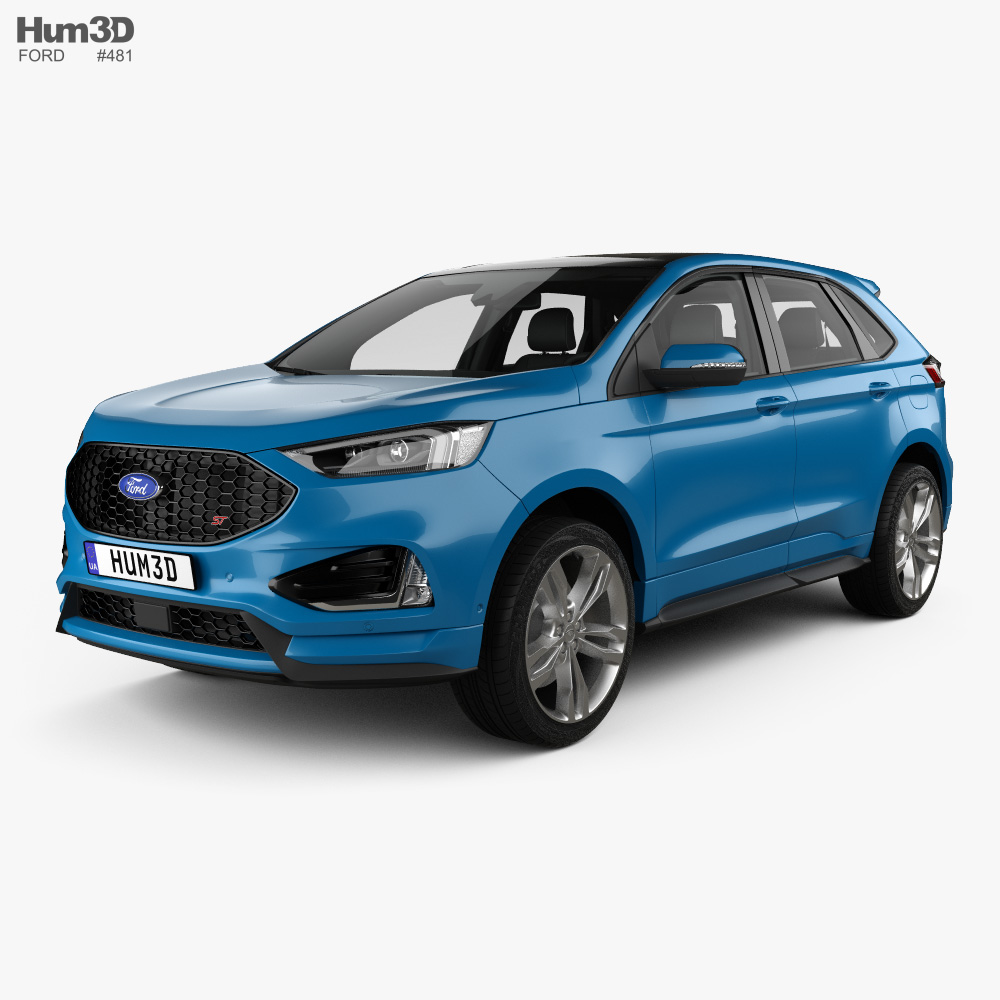 Ford Edge ST with HQ interior 2019 3d model