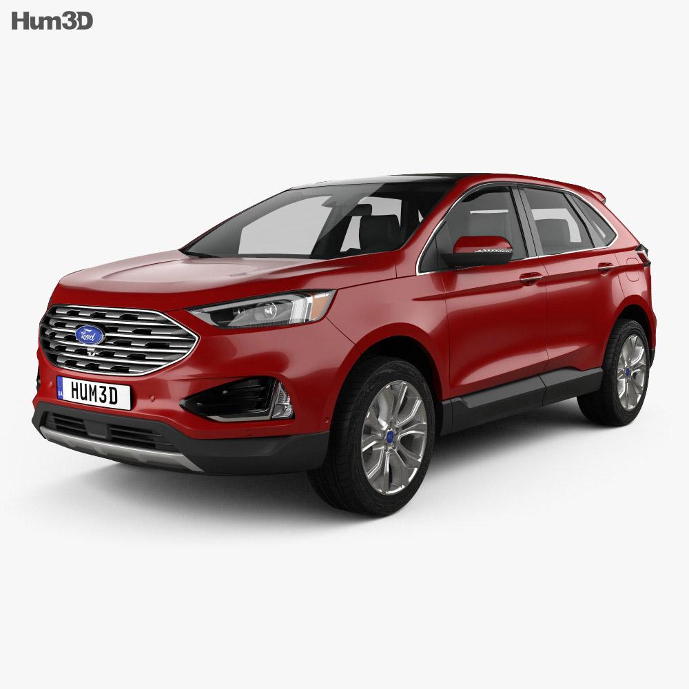 Ford Edge Titanium 2019 3d model