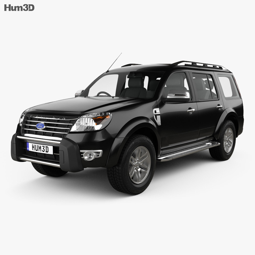 ford endeavour 2014 3d model humster3d