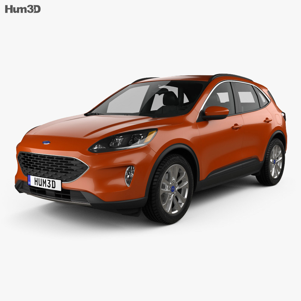 Ford Escape SE 2020 3d model