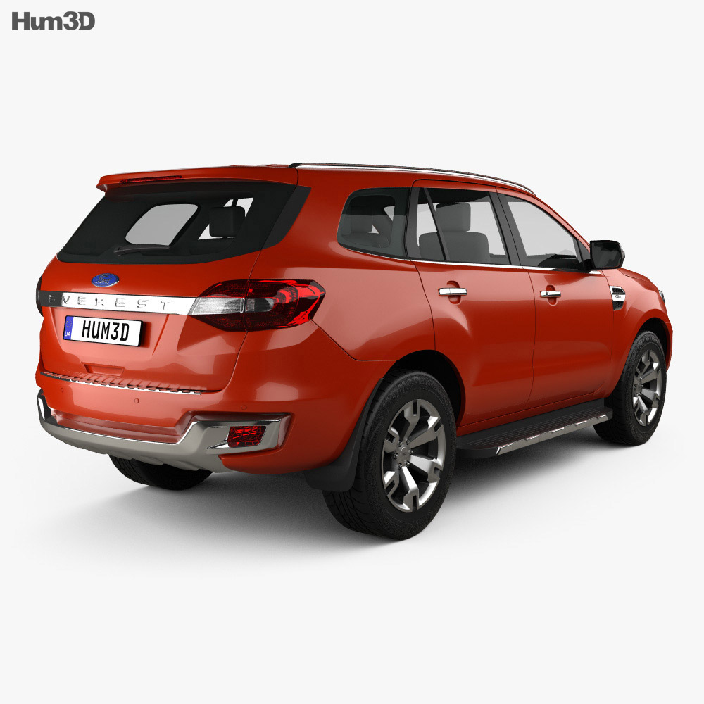 Ford Everest 2014 3d model