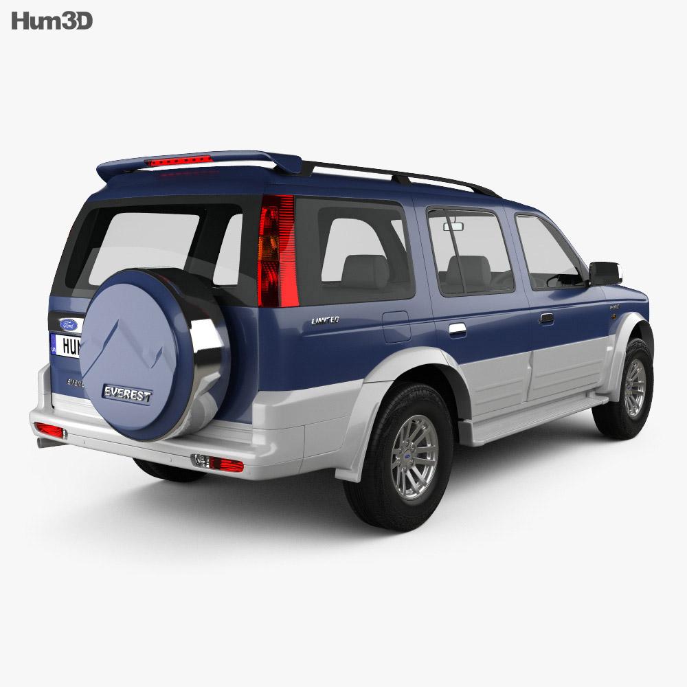 Ford Everest 2003 3d model
