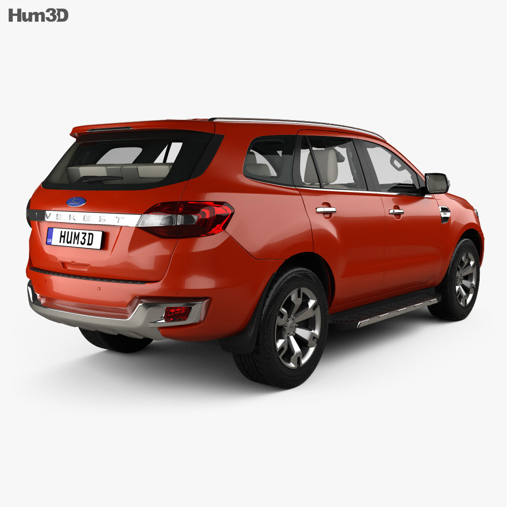 Ford Everest with HQ interior 2014 3d model