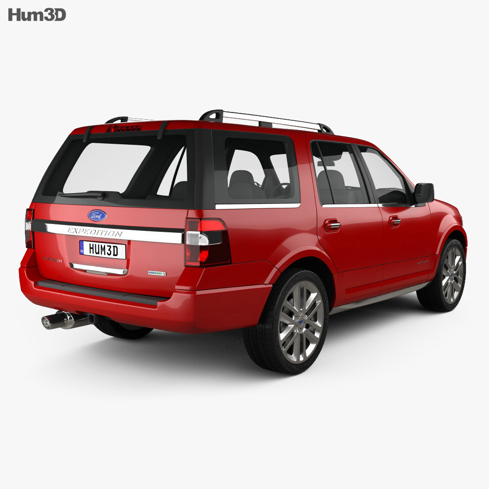 Ford Expedition Platinum 2015 3d model