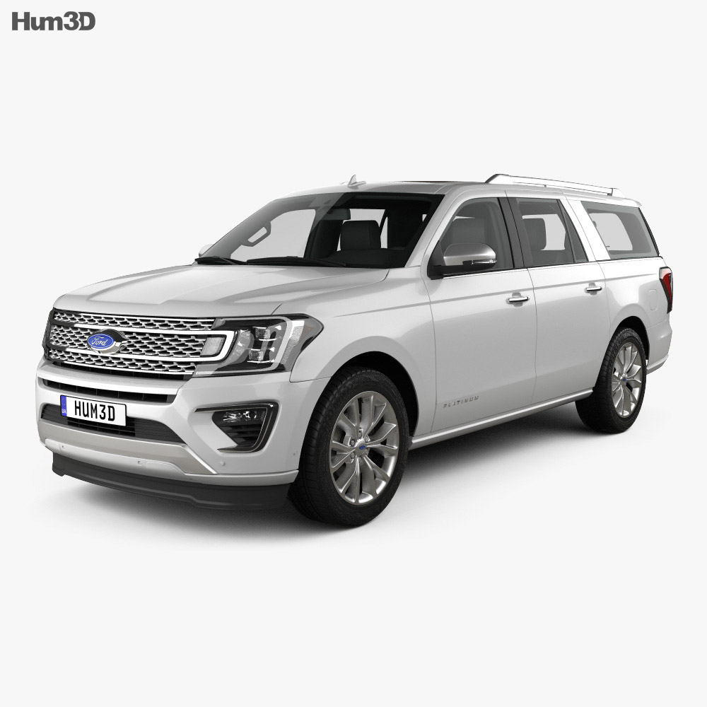 Ford Expediton: Ford Expedition MAX Platinum 2017 3D Model