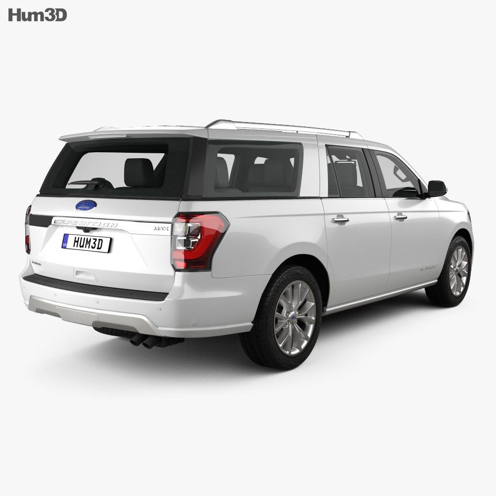 Ford Expedition MAX Platinum 2017 3d model