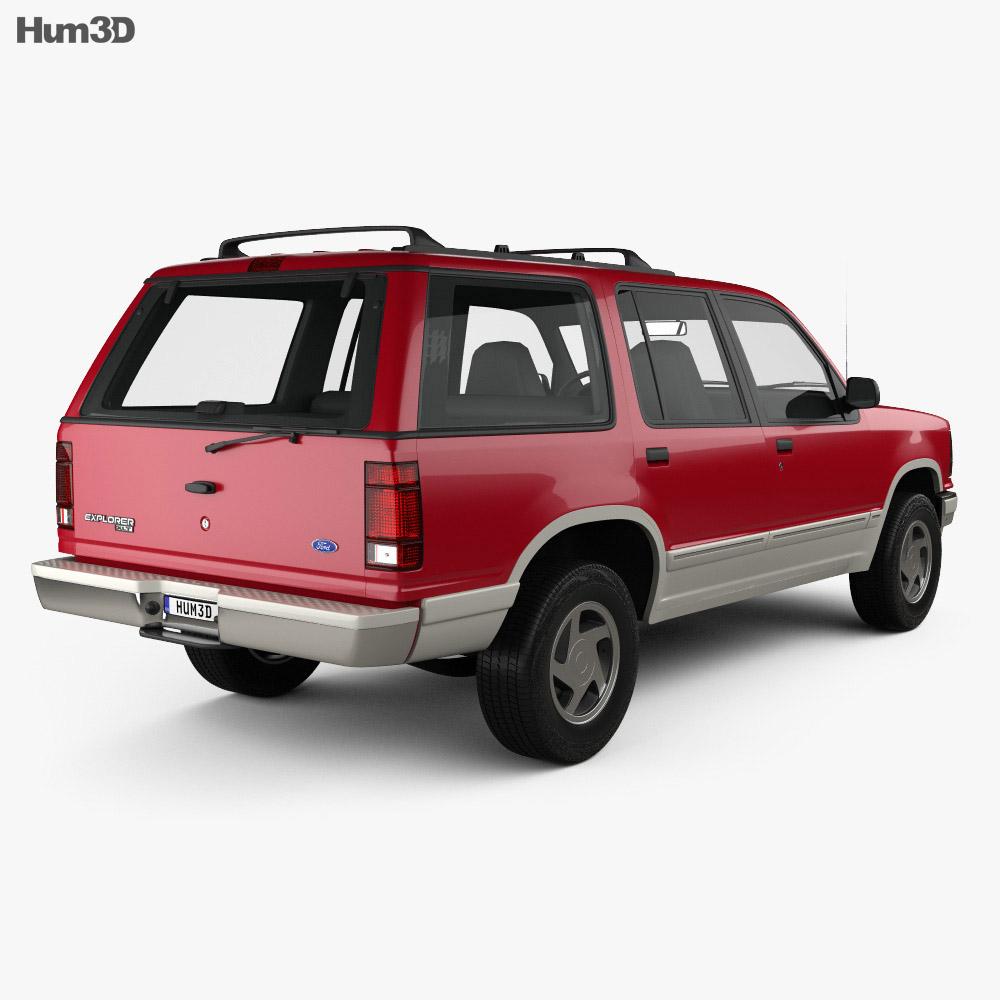 Ford Explorer 1990 3d model