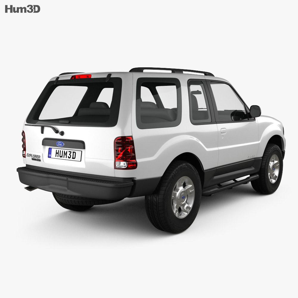 Ford Explorer Sport XLT 2001 3d model