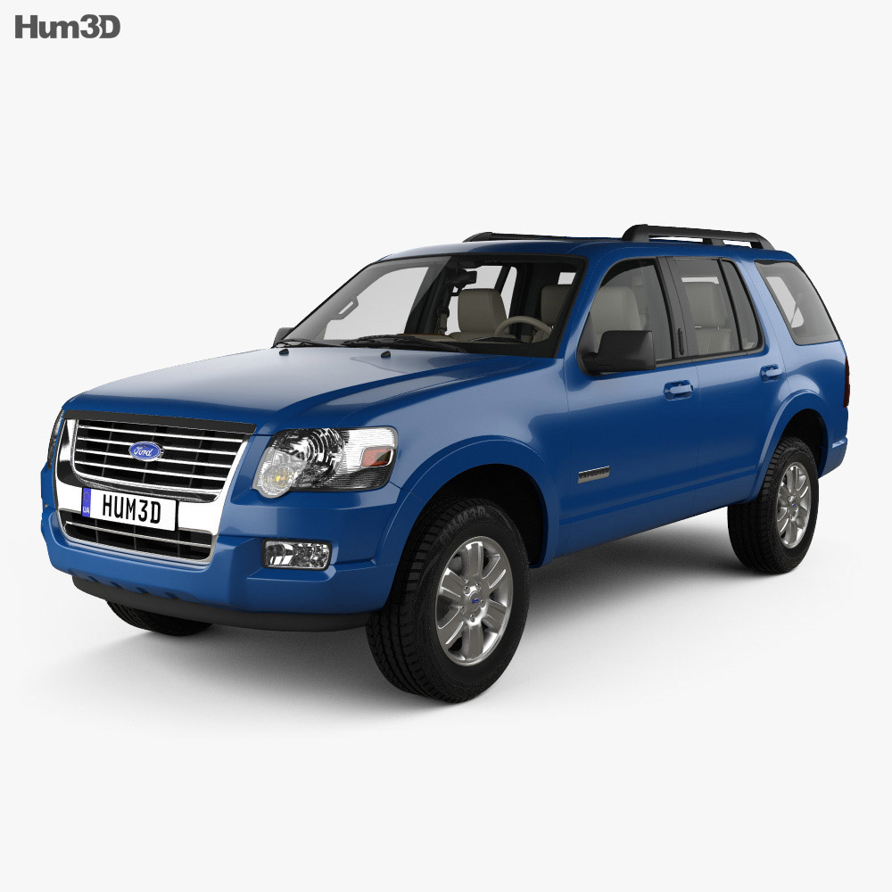Ford Explorer with HQ interior 2006 3d model