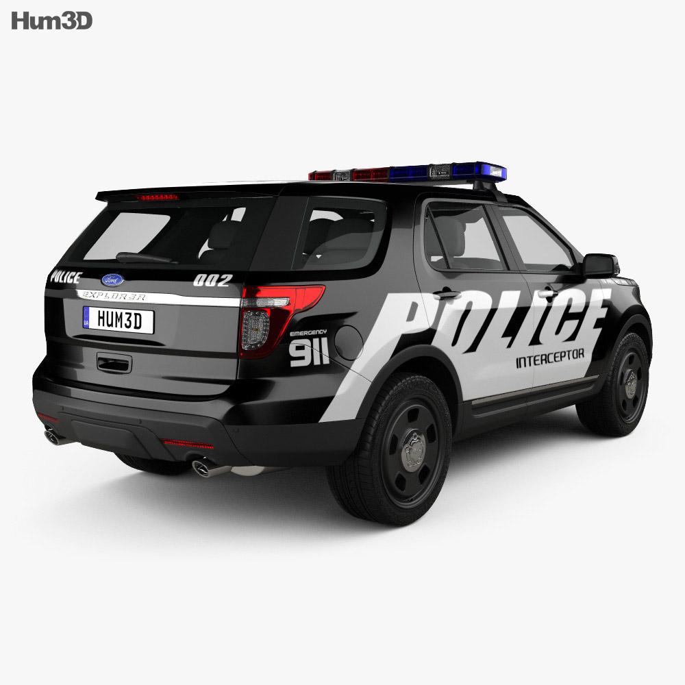 Ford Explorer Police Interceptor Utility 2010 3d model