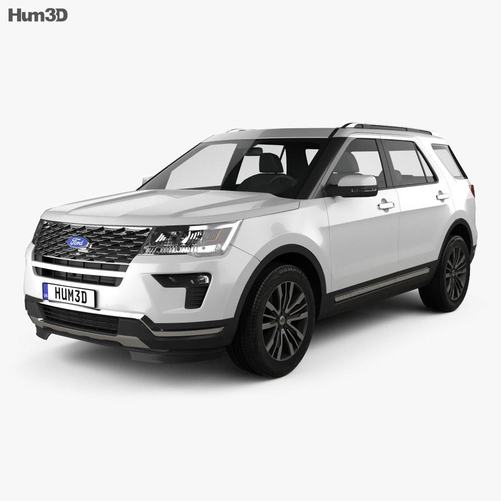 Ford Explorer Models >> Ford Explorer U502 Platinum 2018 3d Model