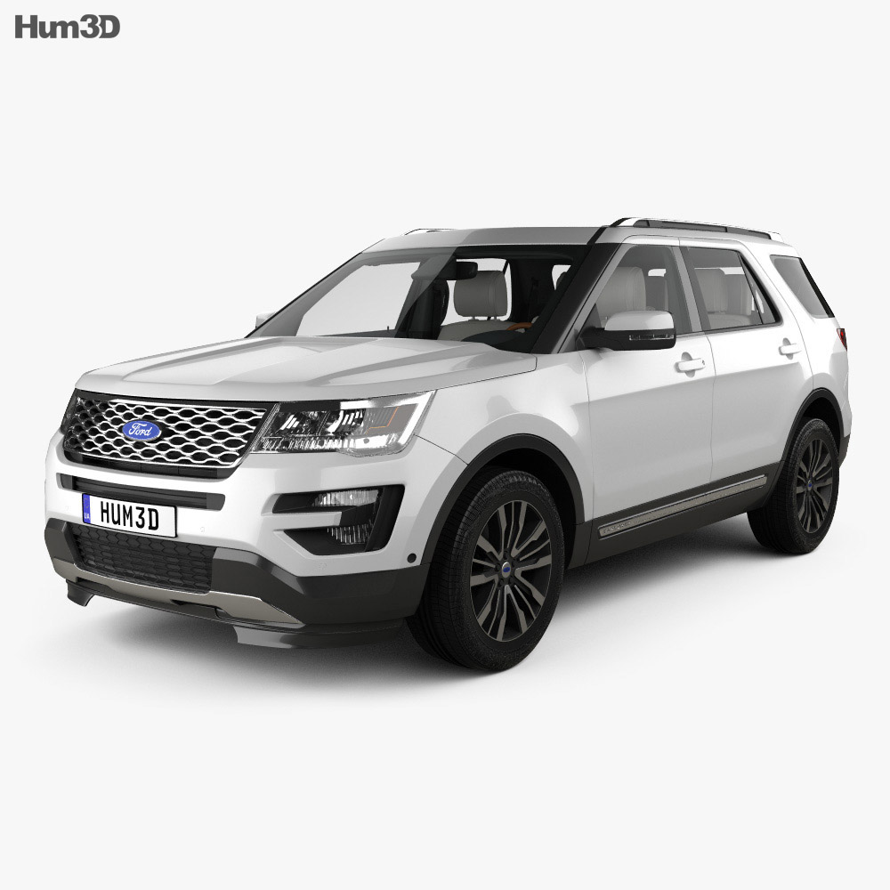 Wonderful Ford Explorer (U502) Platinum With HQ Interior 2015 3d Model ...