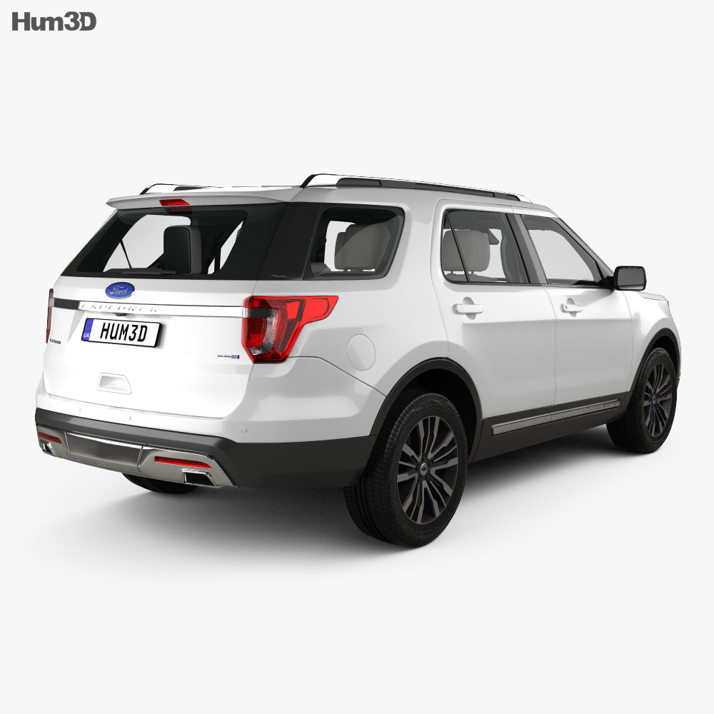 Ford Explorer (U502) Platinum with HQ interior 2015 3d model