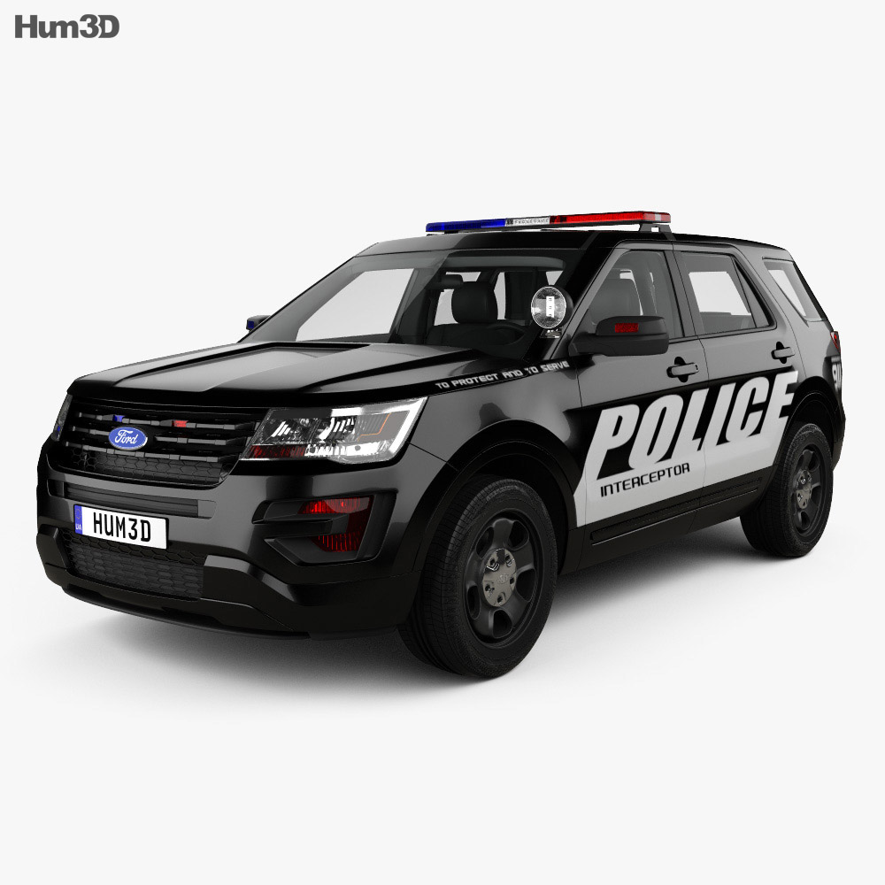 Ford Explorer Police Interceptor Utility With HQ Interior 2016 3d Model ...