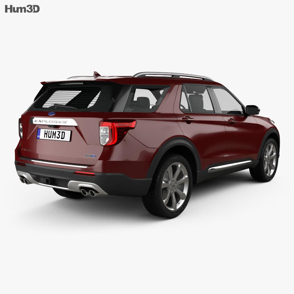 Ford Explorer Platinum 2019 3d model