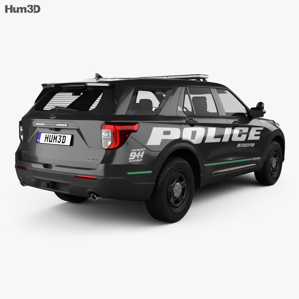 Ford Explorer Police Interceptor Utility 2020 3d model
