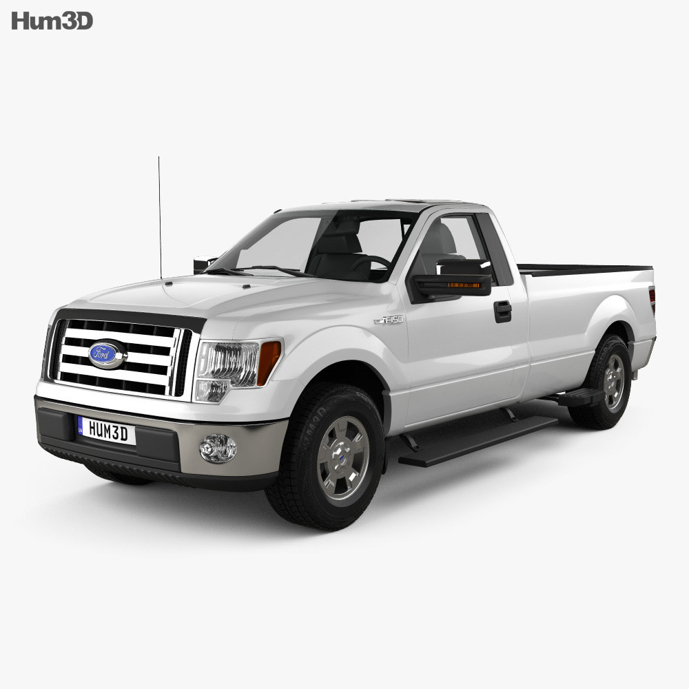 Ford F-150 XLT Regular Cab 8-foot Box 2011 3d model