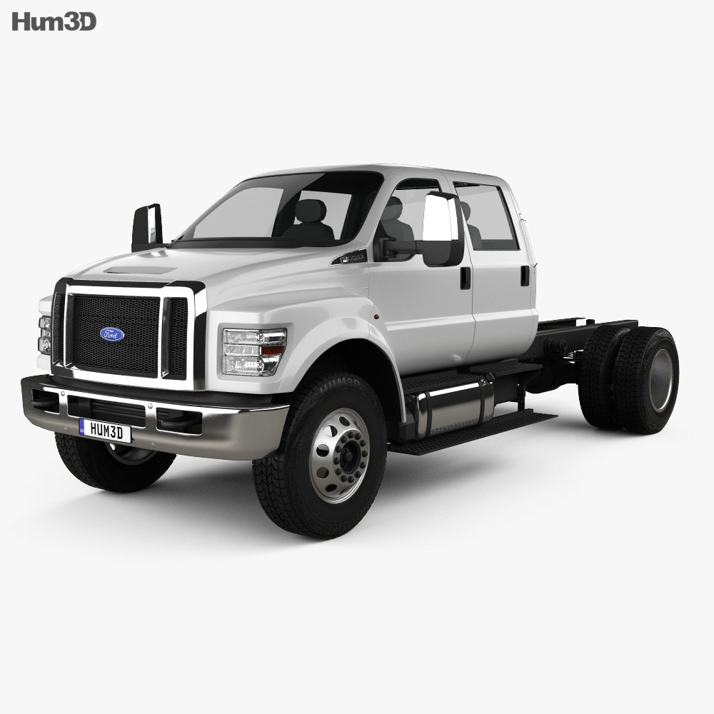 Ford F-650 / F-750 Crew Cab Chassis 2016 3d model