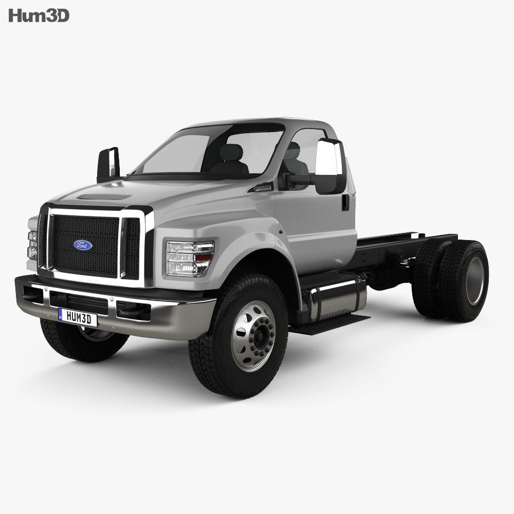 Ford F-650 Regular Cab Chassis 2016 3d model