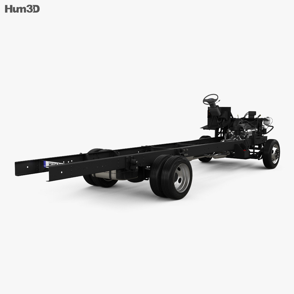Ford F59 Bus Chassis L2 2018 3d model back view