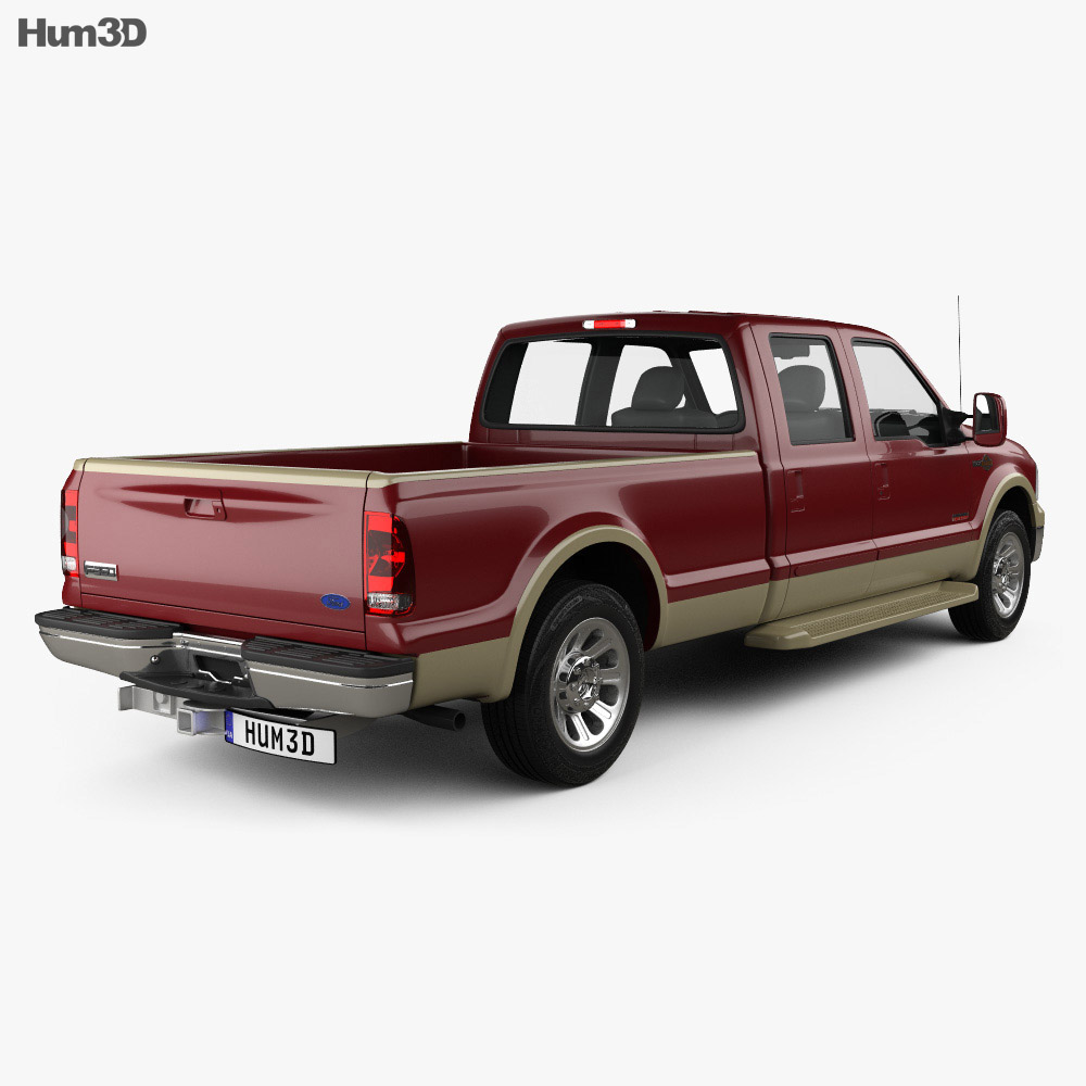 Ford F-350 Super Crew Cab King Ranch 2003 3d model