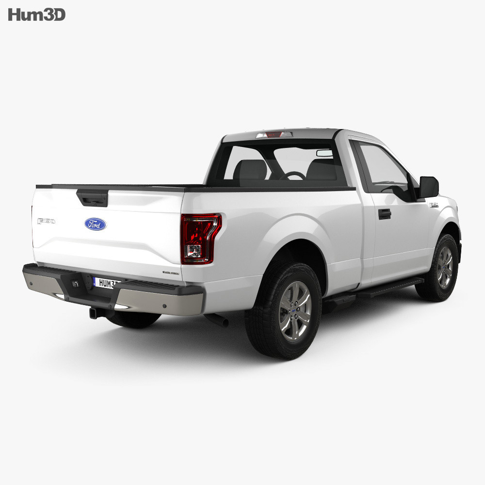 Ford F-150 Regular Cab XLT 2014 3d model