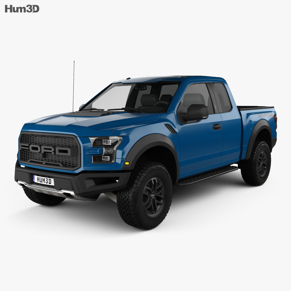 Ford F-150 Super Cab Raptor 2017 3d model