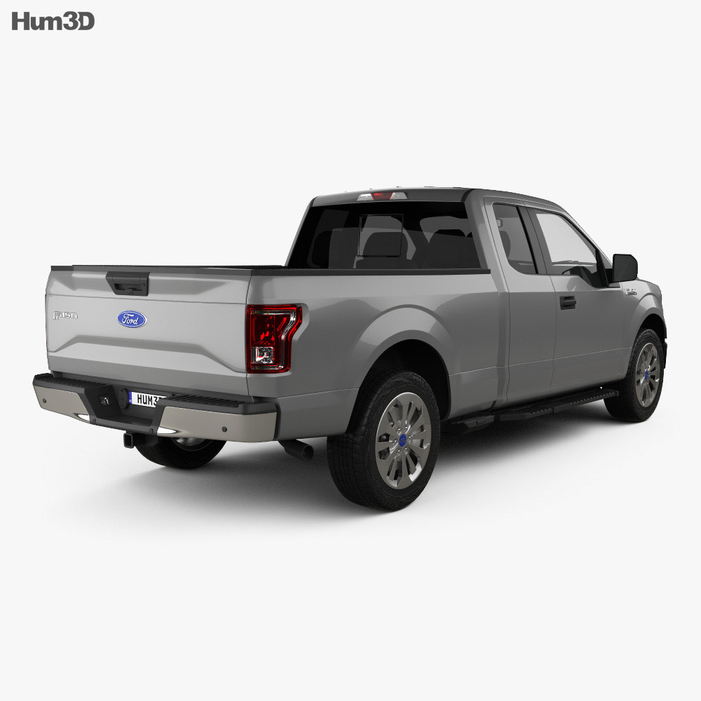 Ford F-150 Super Cab XLT 2014 3d model