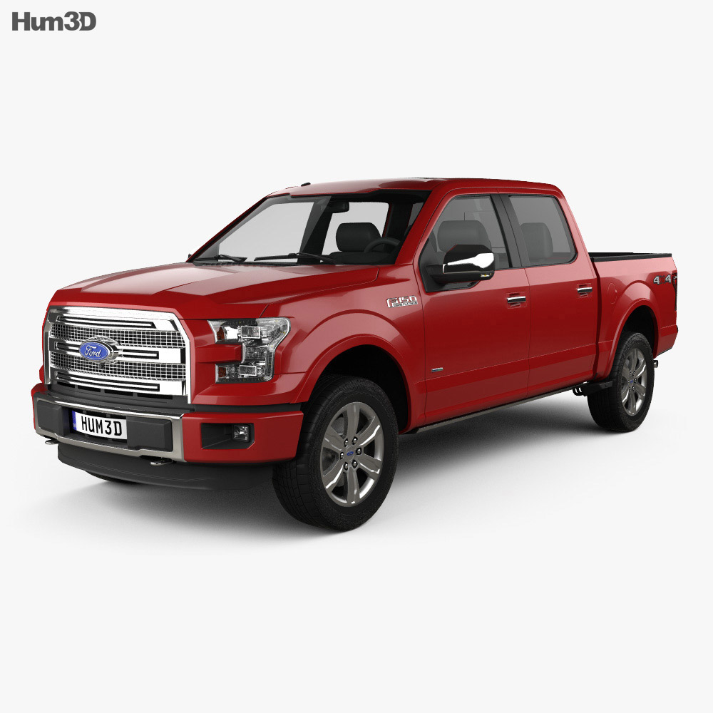 Super Crew Cab >> Ford F 150 Super Crew Cab Platinum 2014 3d Model