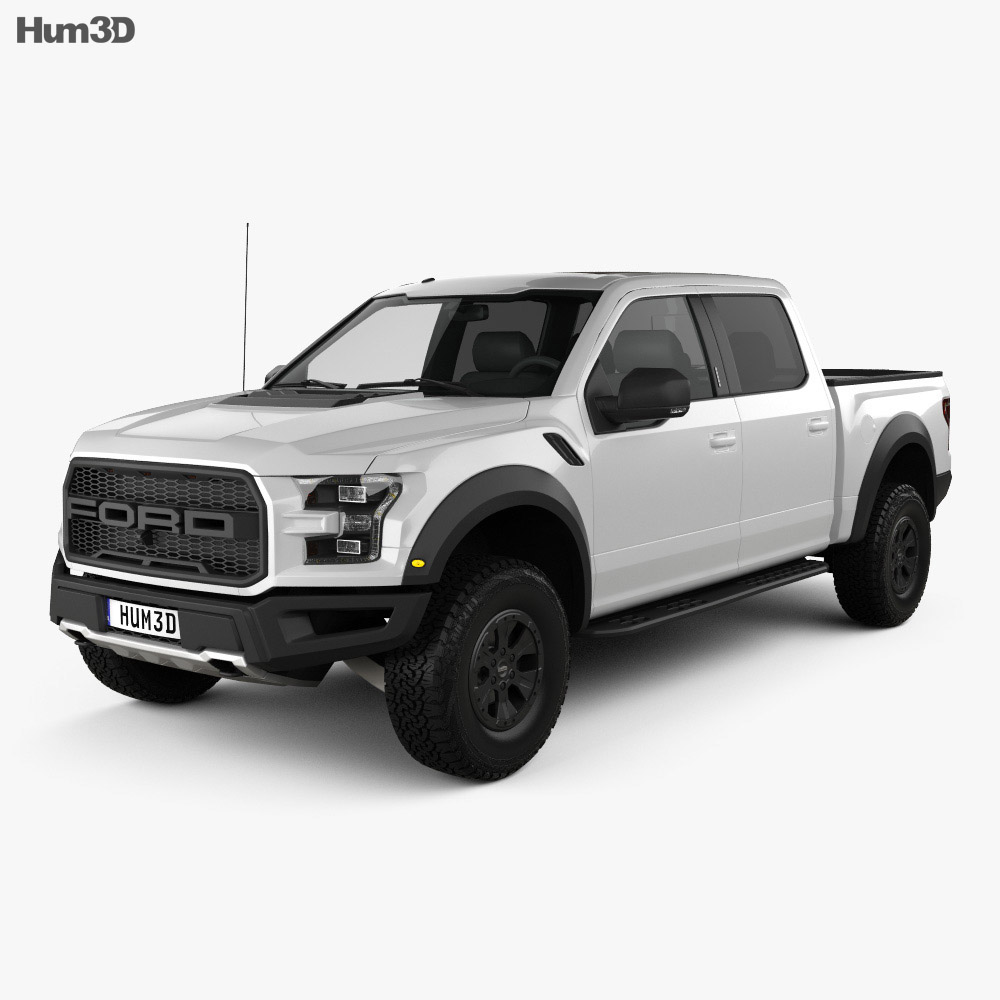 Ford F-150 Super Crew Cab Raptor 2016 3d model