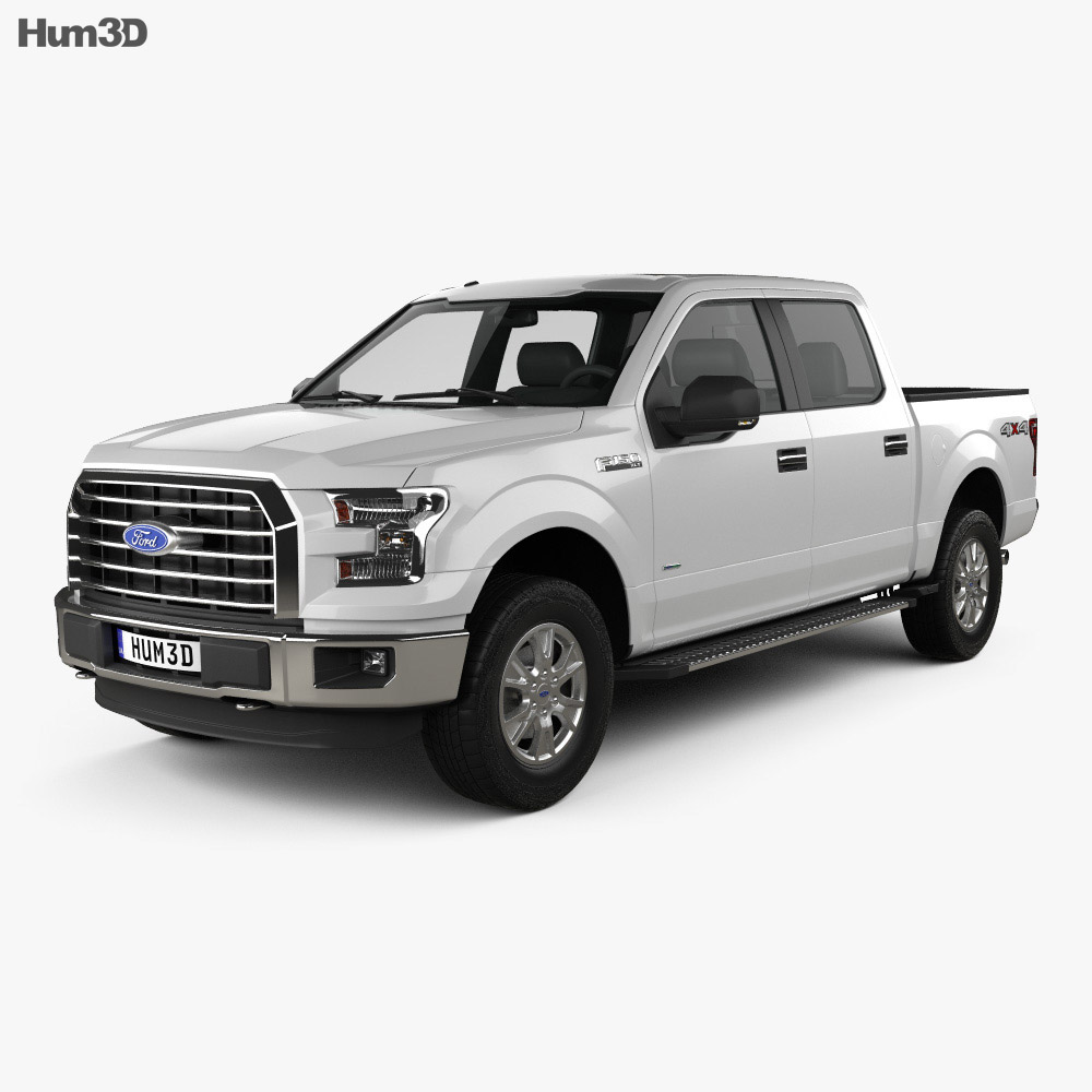 Ford F-150 Super Crew Cab XLT 2014 3d model