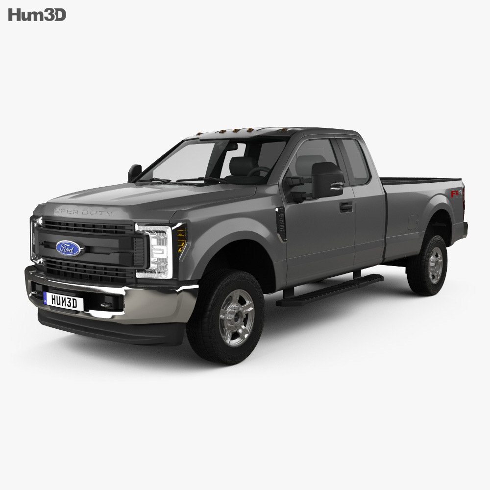 F250 Super Cab >> Ford F 250 Super Duty Super Cab Xlt 2015 3d Model