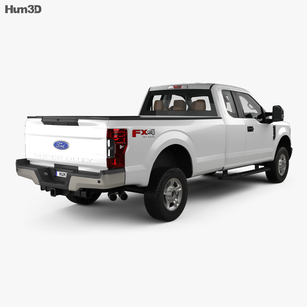 Ford F-250 Super Duty Super Cab XLT with HQ interior 2015 3d model