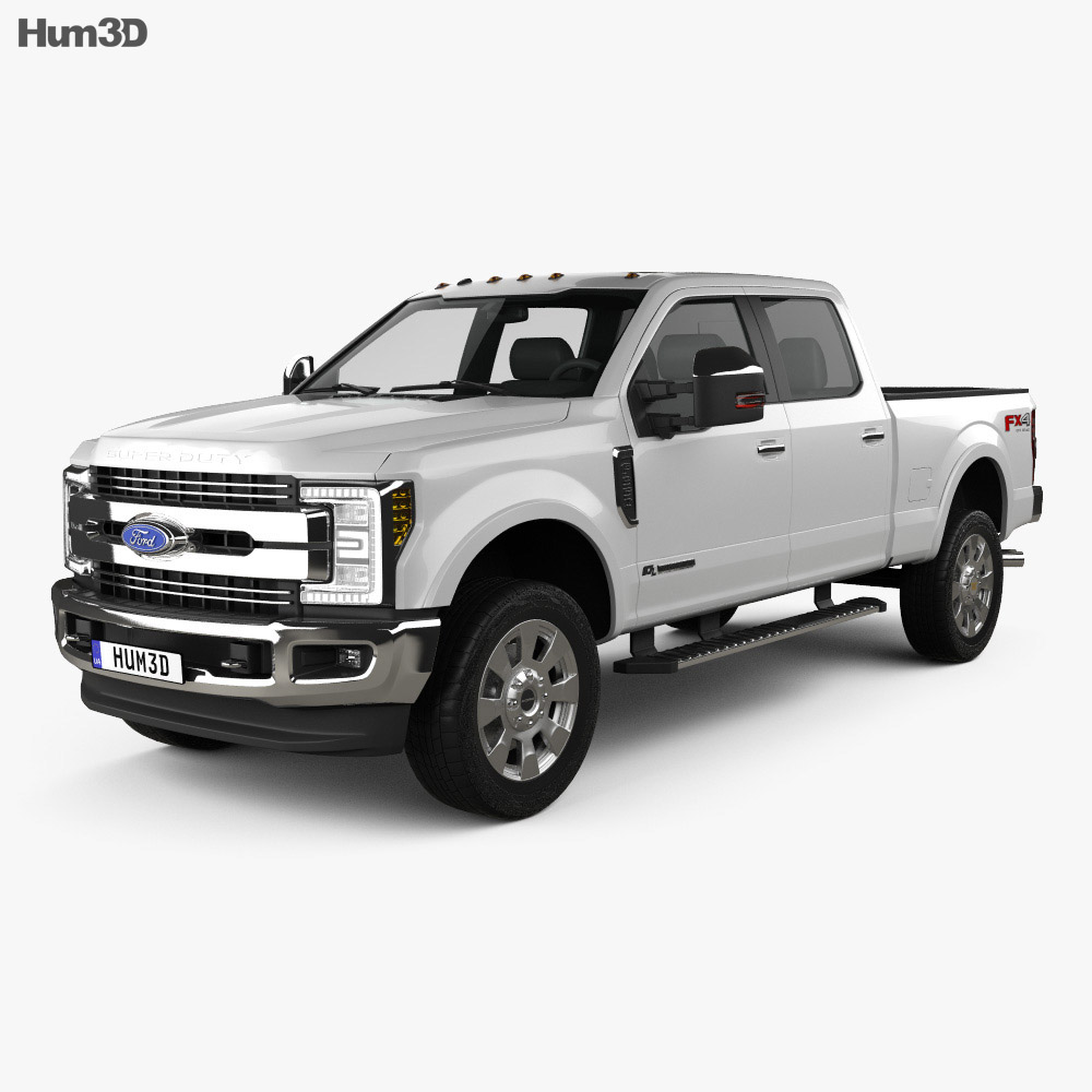 Ford F-350 Super Duty Super Crew Cab King Ranch 2015 3d model