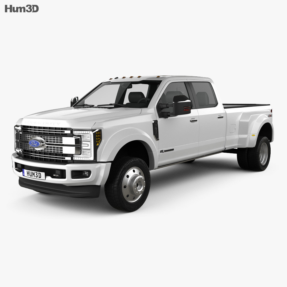 Ford F 450 Super Duty Crew Cab Platinum 2015 3D Model