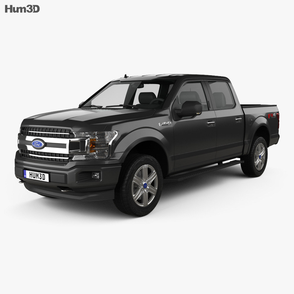 Ford F-150 Super Crew Cab 5.5ft Bed XLT 2018 3d model