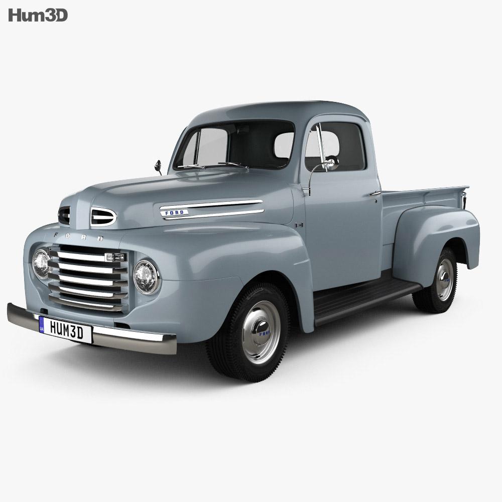 ford f 1 pickup 1948 3d model humster3d. Black Bedroom Furniture Sets. Home Design Ideas